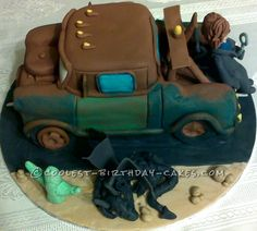 Coolest Last Minute Mater Birthday Cake...