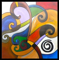 Colorful Large Original Modern Abstract Painting by SavarinoArt, $1200.00