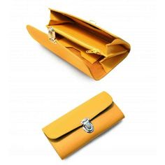 Желтый кожаный кошелек в ретро-стиле | Дизайнер Leonid Titow | Ручная работа