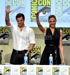 Actors Henry Cavill and Gal...
