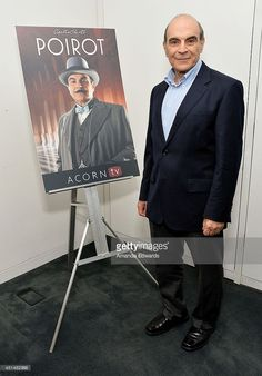 Actor David Suchet attends the U. premiere of the series finale of Agatha Christie's 'Poirot' at The Paley Center for Media on June 2014 in Beverly Hills, California. Hercule Poirot, Agatha Christie's Poirot, Miss Marple, Detective, Library Humor, Bbc Tv Shows, David Suchet, Crime, Free Books Online