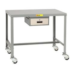 Little Giant USA Mobile Steel Top Machine Workbench with Drawer Size: