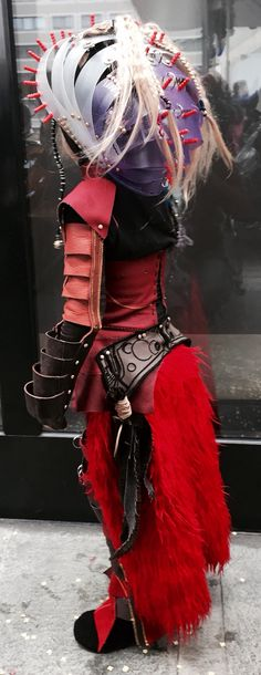 Carnaval Samurai, Unique, Leather, Handmade, Carnival, Hand Made, Samurai Warrior, Handarbeit