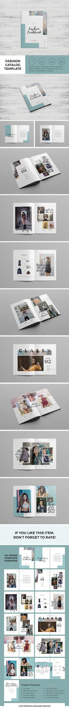 Fashion Magazine / Lookbook — #print #lookbook • Download ➝ https://graphicriver.net/item/fashion-magazine-lookbook/21237896?ref=pxcr