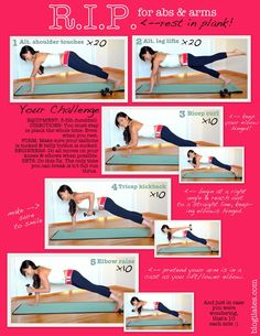 An awesome and intense workout for abs....plank is the best exercise the whole body