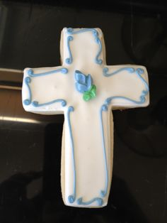 Cross for a Christening cookie