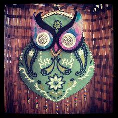 Handmade accessories owl bird boho bohemian vintage necklace bag
