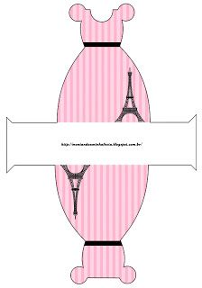 Montando a minha festa: Paris preto e rosa