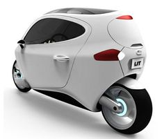 Streamlined motorcycle car is like a smart phone on wheels.