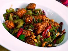 Homemade kung pao using Popeye's popcorn chicken. Ok, I will never actually make this but COME ON you know it would be amazing.