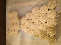 Bridal shower cupcake cake