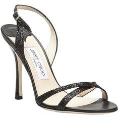 JIMMY CHOO Ingrid fabric sandal (1.335 HRK) found on Polyvore