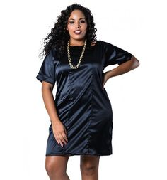 Vestido Plus Size Bengaline com Tiras Preto Lenner Plus Vestidos Plus Size, Camisa Formal, Moda Plus Size, Feminism, Ideias Fashion, Dresses For Work, Shirt Dress, Boho, Education