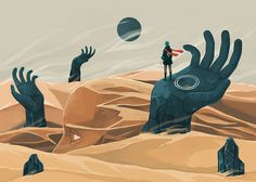 Fresh From The Dairy: Favorites from 2015 – Design Milk The wanderer and the desert portals art print by Reno … Portal Art, Desert Art, Environment Concept Art, Environmental Art, Angst, Art Plastique, Surreal Art, Landscape Art, Illustrations Posters