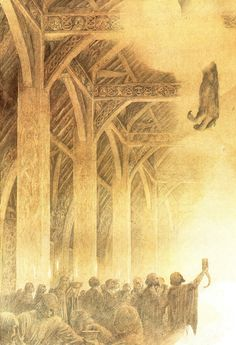 Alan Lee Beowulf in Heorot (off 'Castles')