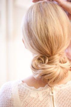 Wedding Ideas: elegant-low-bun