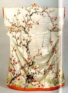 Kosode, By Hoitsu Sakai Japanese Textiles, Japanese Patterns, Japanese Fabric, Japanese Prints, Japanese Design, Japanese Art, Traditional Japanese Kimono, Traditional Dresses, Japanese Outfits