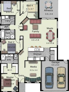 Dakota 237 Home Design House Layout Plans, Family House Plans, Dream House Plans, Small House Plans, House Layouts, House Floor Plans, Pool House Designs, Bungalow House Design, New Home Designs