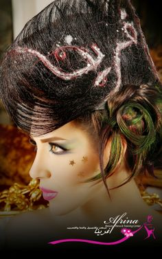 isn't amazing that you can do anything on your hair, this is a wow hairstyle.