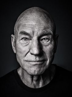 Sir Patrick Stewart - © All images are copyrighted to Andy Gotts Foto Portrait, Portrait Photography, White Photography, Old Man Portrait, Famous Photography, Inspiring Photography, Flash Photography, Andy Gotts, Foto Face