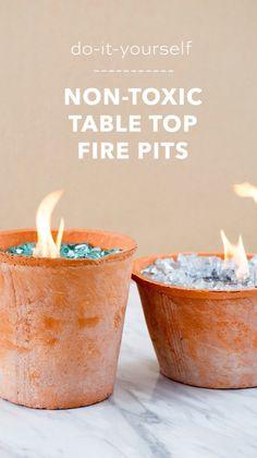 Small Fire Pit, Diy Fire Pit, Fire Pit Backyard, Backyard Bbq, Patio Fire Pits, Fire Pit Fuel, Fire Fire, Backyard Landscaping, Tabletop Fire Bowl