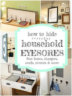 Great tips for hiding everyday eyesores and clutter! @Remodelaholic.com #spon #clutter #storage #tips