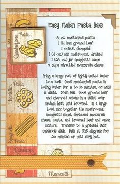 Paper Cottage: Page of the week & Recipe of the Week