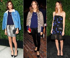 Gia Coppola We can count on filmmaker Coppola to look cute and never overstyled. She's a pro at accentuating her gazelle-like limbs with above-the-knee skirts and dresses, as in the metallic number she paired with a denim jacket (right), and has been known to show up sporting Chanel.