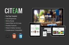 Citeam - Onepage Multipurpose Temp. HTML/CSS Themes. $5.00