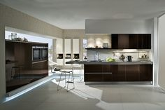 High Gloss Sepia Brown Acrylic Kitchens - Sepia Brown High Gloss Acrylic Kitchen - Discover more at www.lwk-home.com