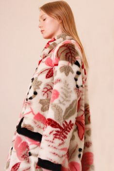 It's time for you to get a new winter coat! Shrimps faux fur coat for women with flora and fauna print will make you warm and stylish! Floral Fashion, Winter Coat, Coats For Women, Shrimp, Faux Fur, Fur Coat, Kimono Top, Floral Prints, Stylish