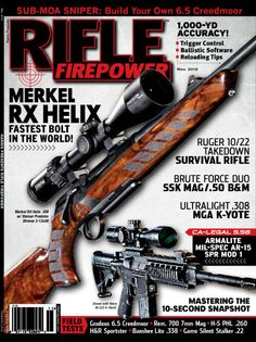 70013840955  SNEAK PEEK  at the NEW COVER of the next issue of RIFLE FIREPOWER magazine