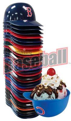 Set of 30 Baseball Team 8oz Ice Cream Sundae Helmet Snack Bowls