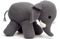How to Make Elephant Crochet Pattern Crochet Elephant Pattern, Crochet Amigurumi Free Patterns, Crochet Diy, Knitted Animals, Stuffed Toys Patterns, Baby Knitting, Crochet Projects, Yarn Crafts, Handmade Toys