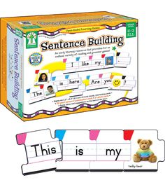 Sentence Building is an hands-on learning resource that provides a variety of reading and grammar games. This multi-sensory early learning manipulative is perfect to enhance early grammar and reading skills. Learning Cards, Learning Resources, Kids Learning, Autism Activities, Teaching Ideas, Writing Activities, Teacher Resources, Autism Learning, Homeschooling Resources