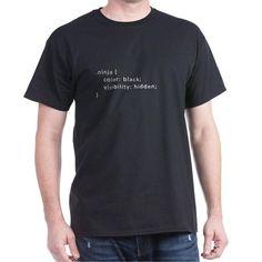 CSS Ninja Style Dark T-Shirt