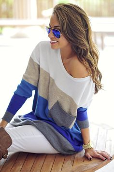 Stack Me Up Sweater: And sunglasses!