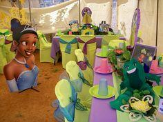 """Princess Tiana & Prince Naveen"" party decorations"