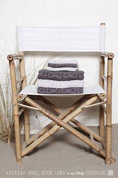 Zusss l Set badhanddoeken en gastendoeken, antracietgrijs en poedergrijs l www.zusss.nl