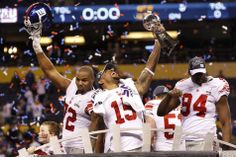 The New York Giants defeated the New England Patriots in the Super Bowl.