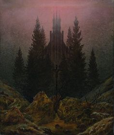 """Cross and cathedral in the mountains"" Caspar David Friedrich, Museum Kunstpalast, Düsseldorf C D Friedrich, Caspar David Friedrich Paintings, Museum Kunstpalast, Casper David, Inspiration Artistique, Mountain Paintings, Christian Art, Les Oeuvres, Landscape Paintings"