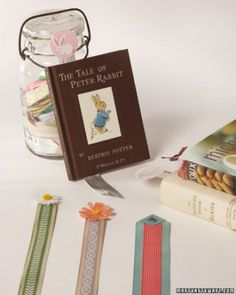 Learn how to turn ribbon scraps into pretty and sturdy bookmarks.  girls could make these as gifts for friends