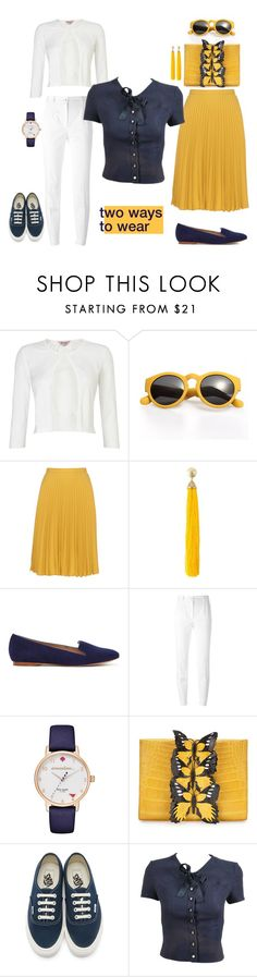 """""""2 ways to wear: cap sleeve top"""" by f-ciarda on Polyvore featuring Phase Eight, Weekend Max Mara, Rosantica, Dolce&Gabbana, Kate Spade, Nancy Gonzalez, Vans and Chanel"""