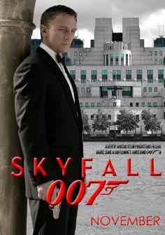 Daniel Craig 007 Skyfall James Bond Actors, James Bond Movie Posters, James Bond Movies, I Movie, Movie Stars, Daniel Craig 007, James Bond Party, Bond Issue, George Lazenby