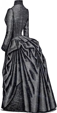 Marvelous Victorian Bustle Dress! - The Graphics Fairy