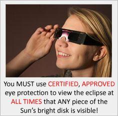 Total Solar Eclipse 2017 - Order Your CERTIFIED SAFE Eclipse Glasses!