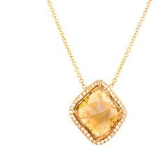 Loriann Stevenson Yellow Diamond Slice Necklace