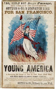 1800s ad: Young America Clipper Ship