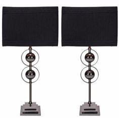Casa Cortes Loft Obsession Black Table Lamps Set Of Two Contemporary Decor #CasaCortes