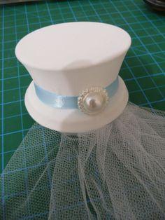 Alice in wonderland wedding bridal white mini top hat  by liluchic, $26.99